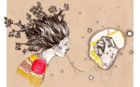 Grimoire-C Magazine, illustrators Felice Vagabonde