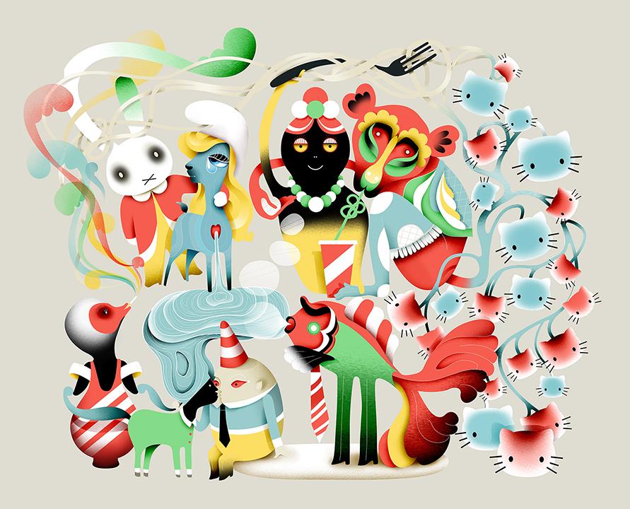 Grimoire-C Magazine, illustrators ROYA HAMBURGER -13